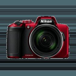 NIKON Pack Coolpix B600 Rouge + Étui + Carte SD 16Go