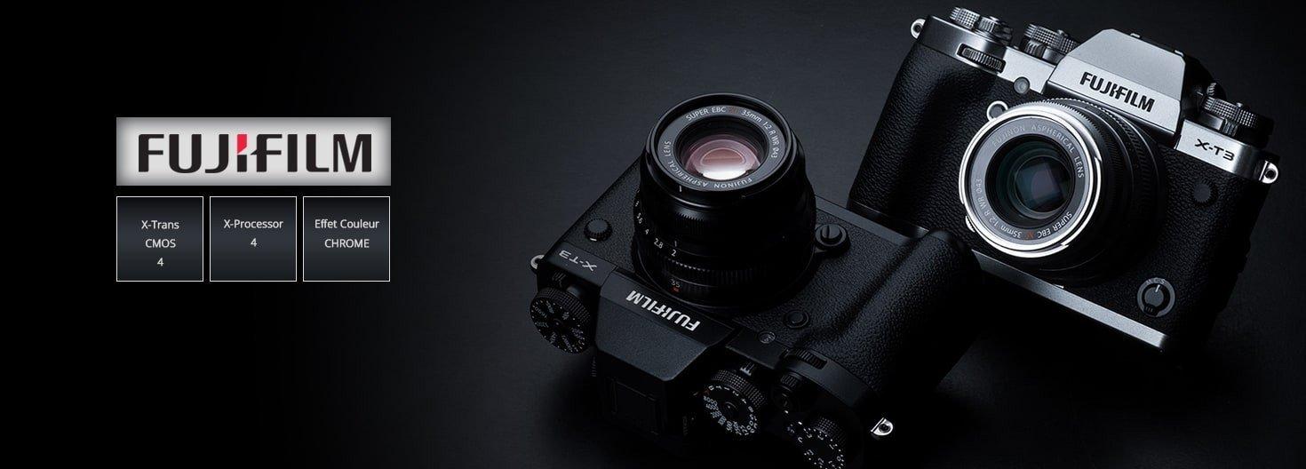 Les appareils Fujifilm XT-3 noir et argent